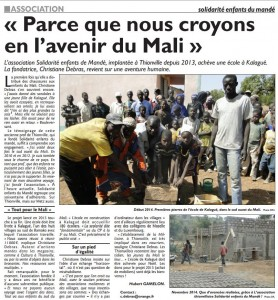 Suite de l'article à la page 4 du journal