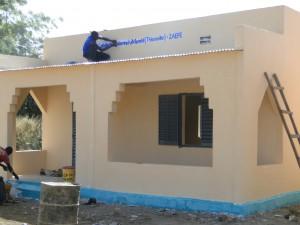 Fin des travaux du projet d'une nouvelle classe à Kalagué 20.12.2014 (3)