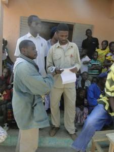 Discours du directerur de l'école de Kalagué à l'inauguration de la nouvelle classe,