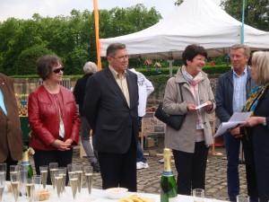 Christiane Debras, présidente de notre association remercie la présidente ainsi que les membres du Rotary Club Thionville - Malbrouck