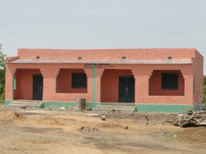 Façade principale des deux classes de Konkani financées par Solidarité Enfants du Mande